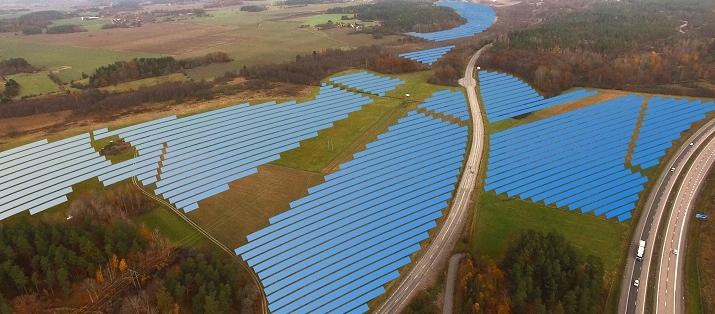 Här byggs Sveriges största solcellspark