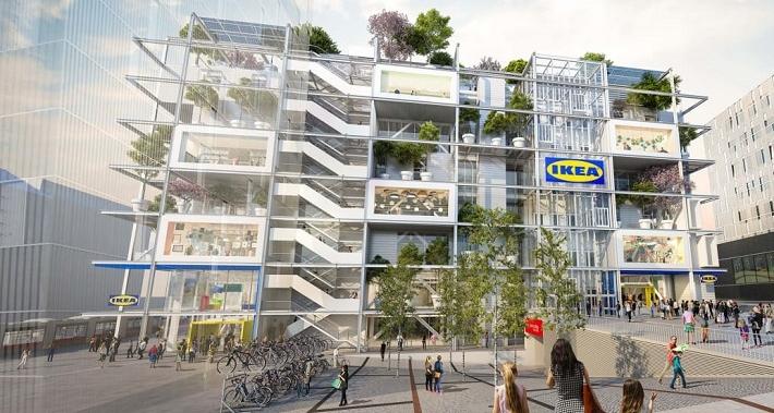 Ikea skippar parkeringsplatser till nya varuhuset